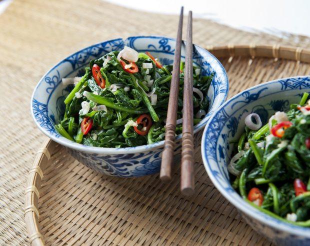 geroerbakte spinazie
