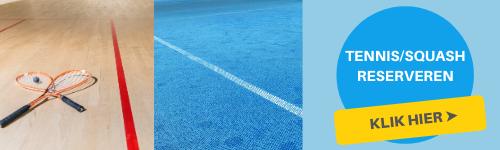 Tennis squash reserveren